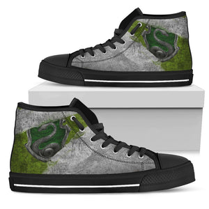 Harry Potter 4 House Women's High Top HP0122 - Slytherin - BLack / US5.5 (EU36) - Ineffable Shop