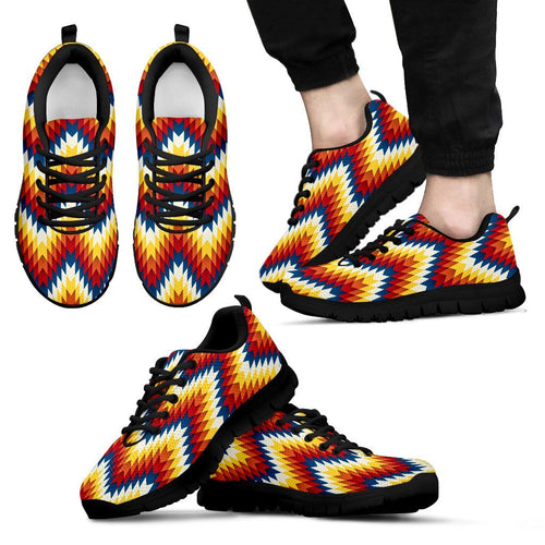 New Native American Indian Men's Sneaker Design NT067 - Men's Sneakers - Black - Native 1 / US5 (EU38) - Ineffable Shop