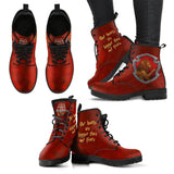 Harry Potter 4 House Women's Leather Boots HP0106 - Gryffindor / US5 (EU35) - Ineffable Shop
