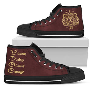 Harry Potter 4 House Women's High Top Canvas Shoe HP0050 - Gryffindor - Black / US5.5 (EU36) - Ineffable Shop