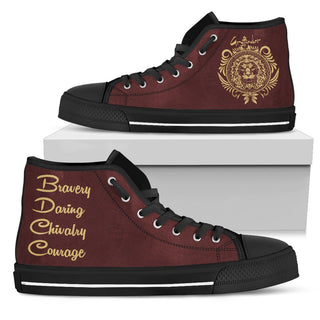 Harry Potter 4 House Women's High Top Canvas Shoe HP0050