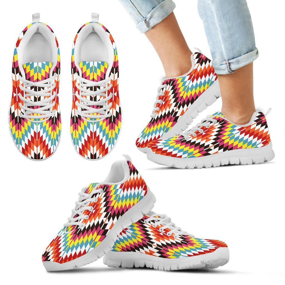 Native American Kid's Sneaker Design NT062 - Kid's Sneakers - White - Native 2 / 11 CHILD (EU28) - Ineffable Shop