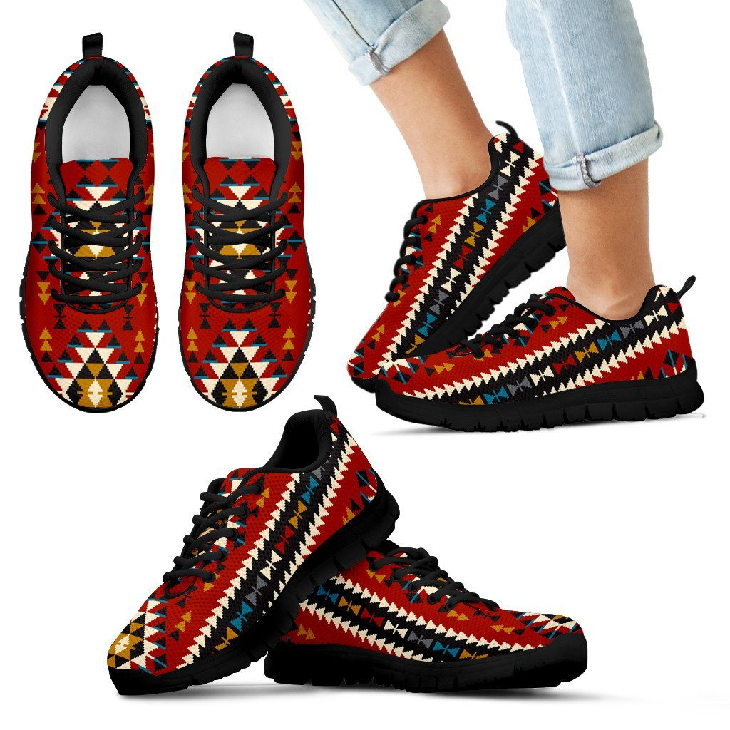 Native American Indian Pattern Kid's Running Shoes NT030
