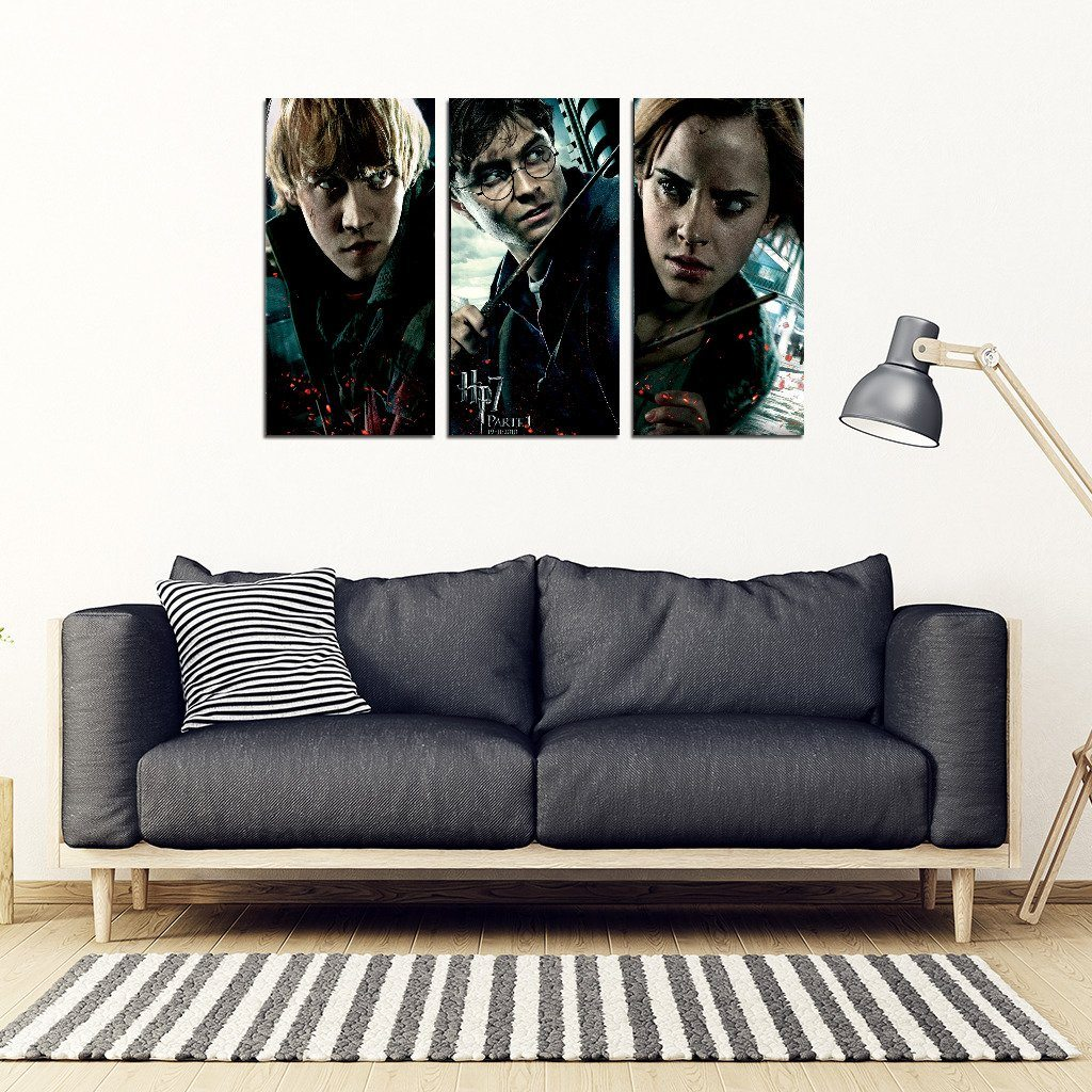 Harry Potter 3 Piece Framed Canvas HP0081