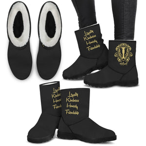 Harry Potter 4 House Faux Fur Boots HP0059