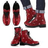 New Design Christmas Leather Boots - Men's Leather Boots - Black - Christmas 2 / US5 (EU38) - Ineffable Shop