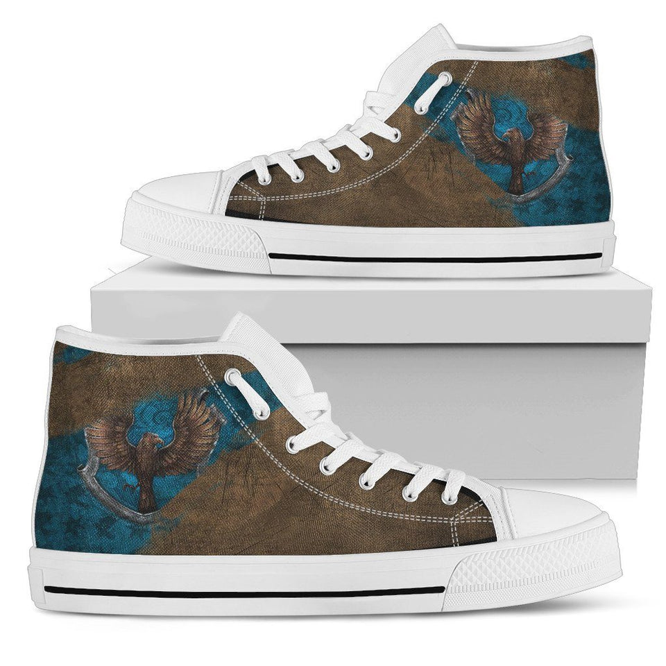 Harry Potter 4 House Women's High Top HP0122 - Ravenclaw - White / US5.5 (EU36) - Ineffable Shop