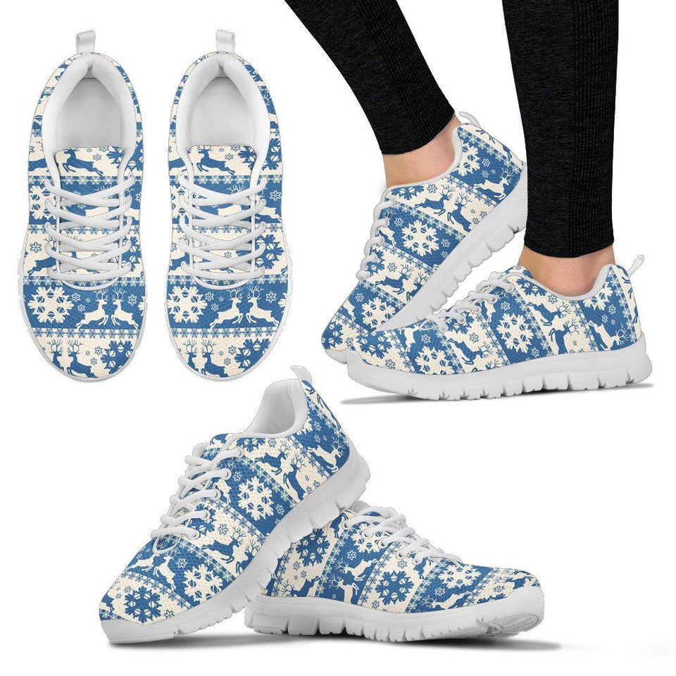 Christmas Women's Running Shoes - Women's Sneakers - White - Christmas 2 / US5 (EU35) - Ineffable Shop