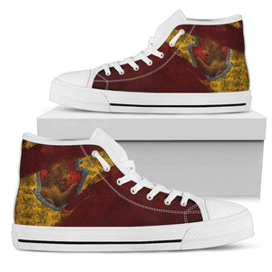 Harry Potter 4 House Men's High Top HP0123 - Gryffindor - White / US5 (EU38) - Ineffable Shop