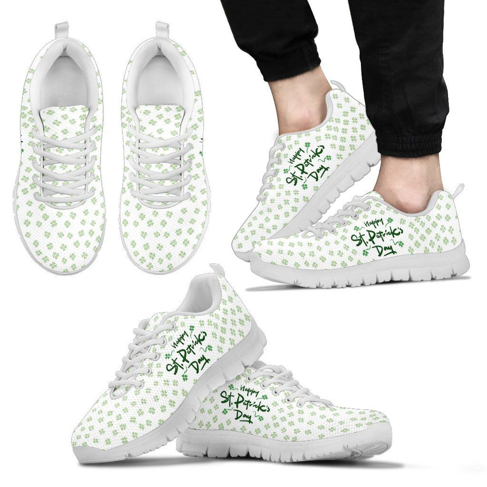 St.Patrick's Day Men's Running Shoes - Men's Sneakers - White - 2 / US5 (EU38) - Ineffable Shop