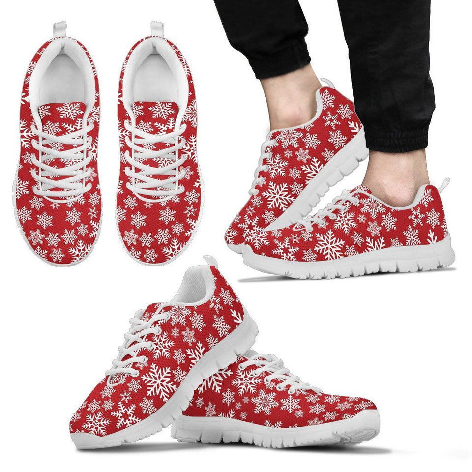 Christmas Red Snow Men's Running Shoes - Men's Sneakers - White - Christmas 2 / US5 (EU38) - Ineffable Shop