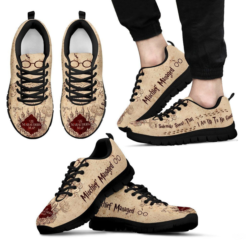 Marauders Map Shoes Marauder's Map Men's Running Shoes – Ineffable Shop