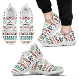 Native American Pattern Men's Running Shoes Design NT091 - Men's Sneakers - White - Native American 2 / US5 (EU38) - Ineffable Shop