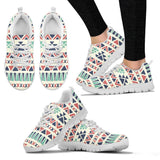 Native American Pattern Women's Running Shoes Design NT090 - Women's Sneakers - White - Native American 2 / US5 (EU35) - Ineffable Shop