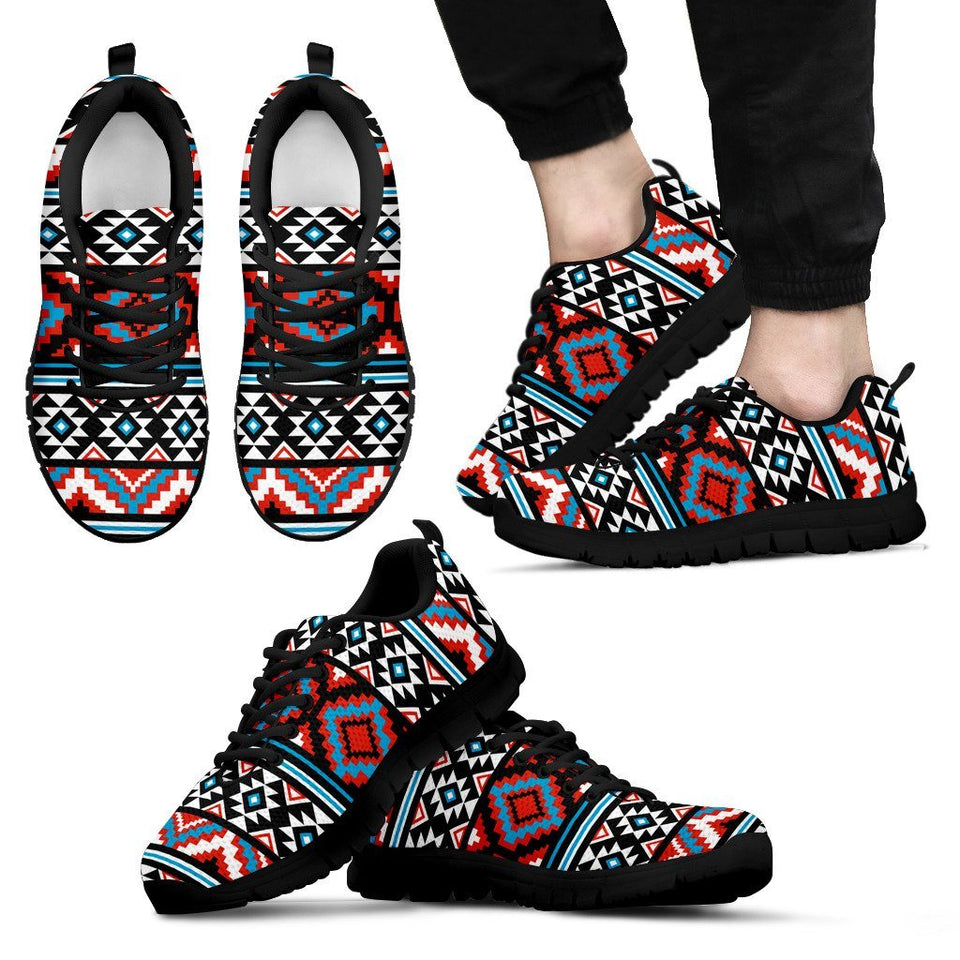 Native American Pattern Men's Running Shoes NT023 - Men's Sneakers - Black - Native American 1 / US5 (EU38) - Ineffable Shop