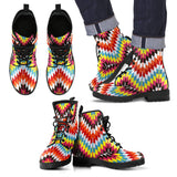 Native American Leather Boots Design NT015 - Men's Leather Boots - Black - Native 2 / US5 (EU38) - Ineffable Shop