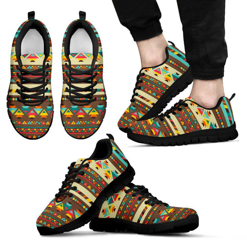 Native American Indian Pattern Men's Shoes NT085 - Men's Sneakers - Black - Native American 1 / US5 (EU38) - Ineffable Shop