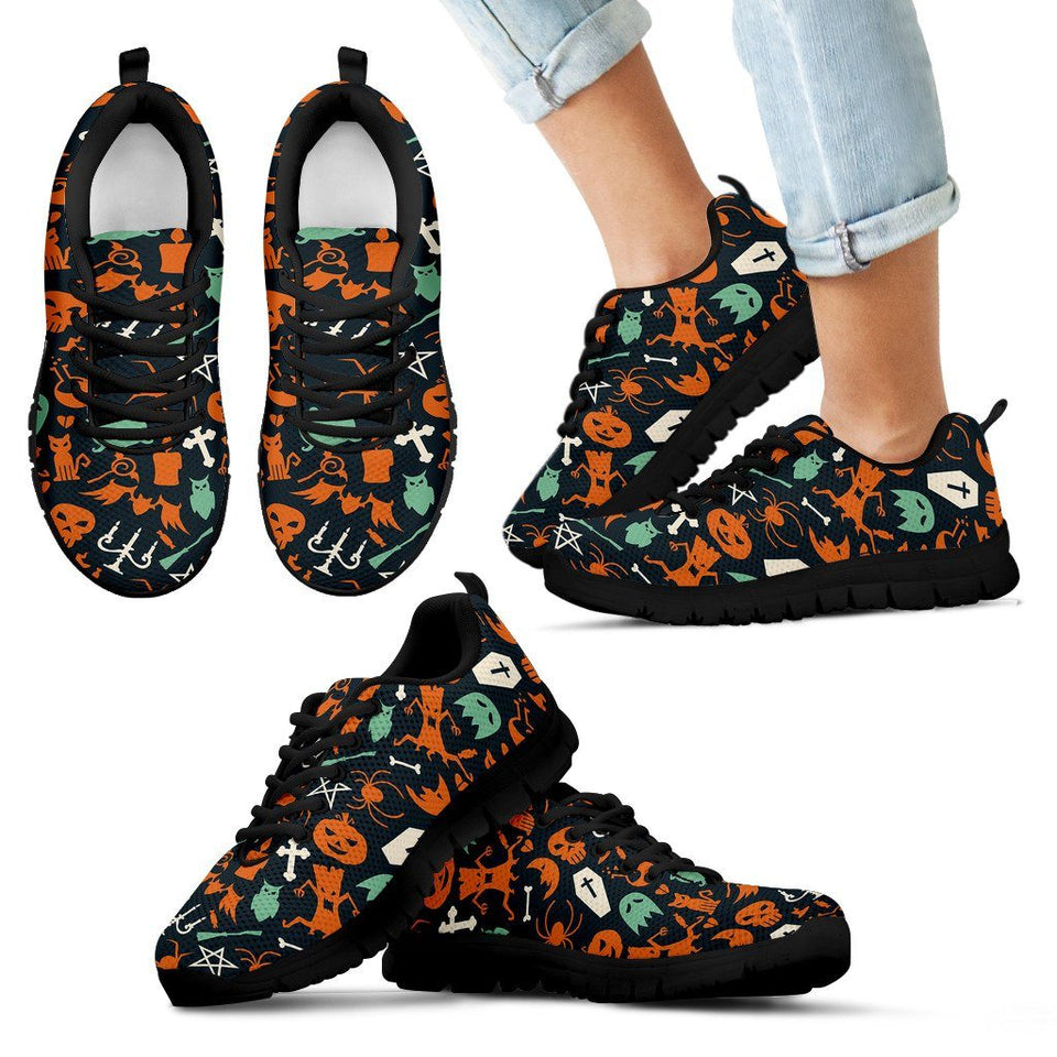 Happy Halloween Kid's Running Shoes HLW019 - Kid's Sneakers - Black - Halloween 1 / 11 CHILD (EU28) - Ineffable Shop
