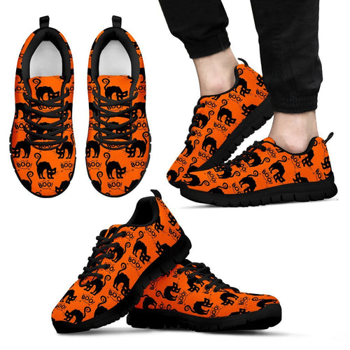 Halloween Black Cat Men's Running Shoes HLW021 - Men's Sneakers - Black - Halloween 1 / US5 (EU38) - Ineffable Shop