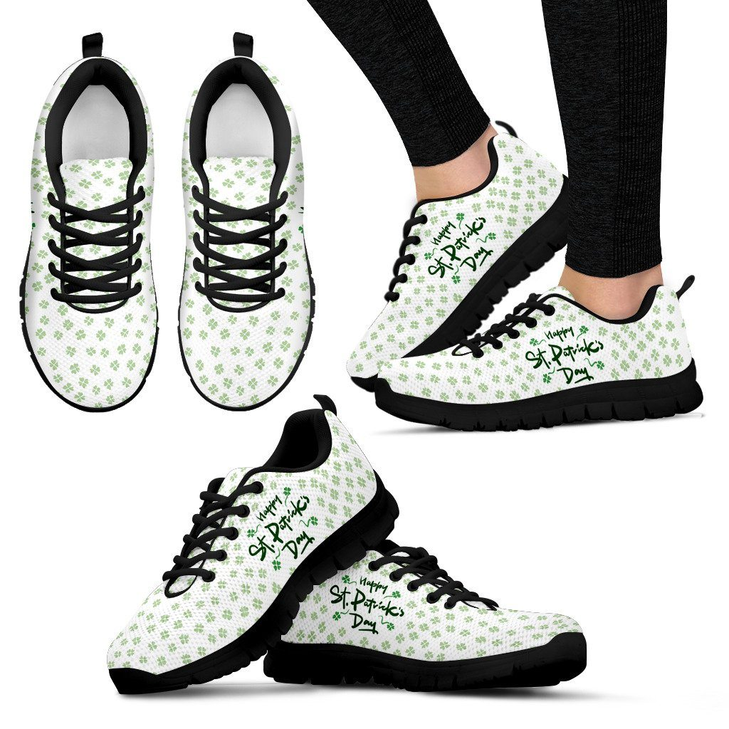 St.Patrick's Day Women's Running Shoes - Women's Sneakers - Black - 1 / US5 (EU35) - Ineffable Shop