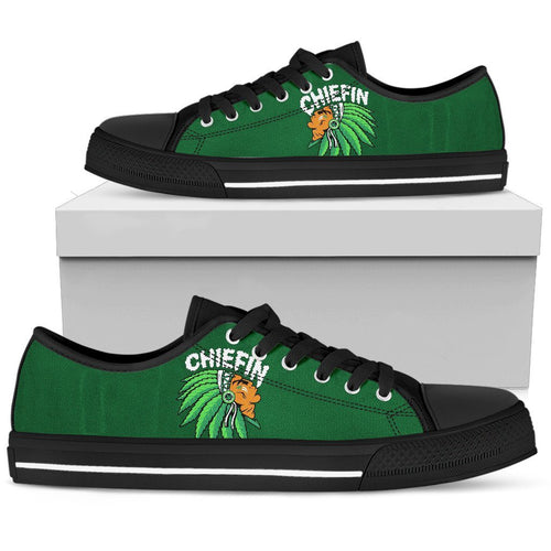 Chiefin Men's Low Top Shoe - Green - Black Sole / US5 (EU38) - Ineffable Shop