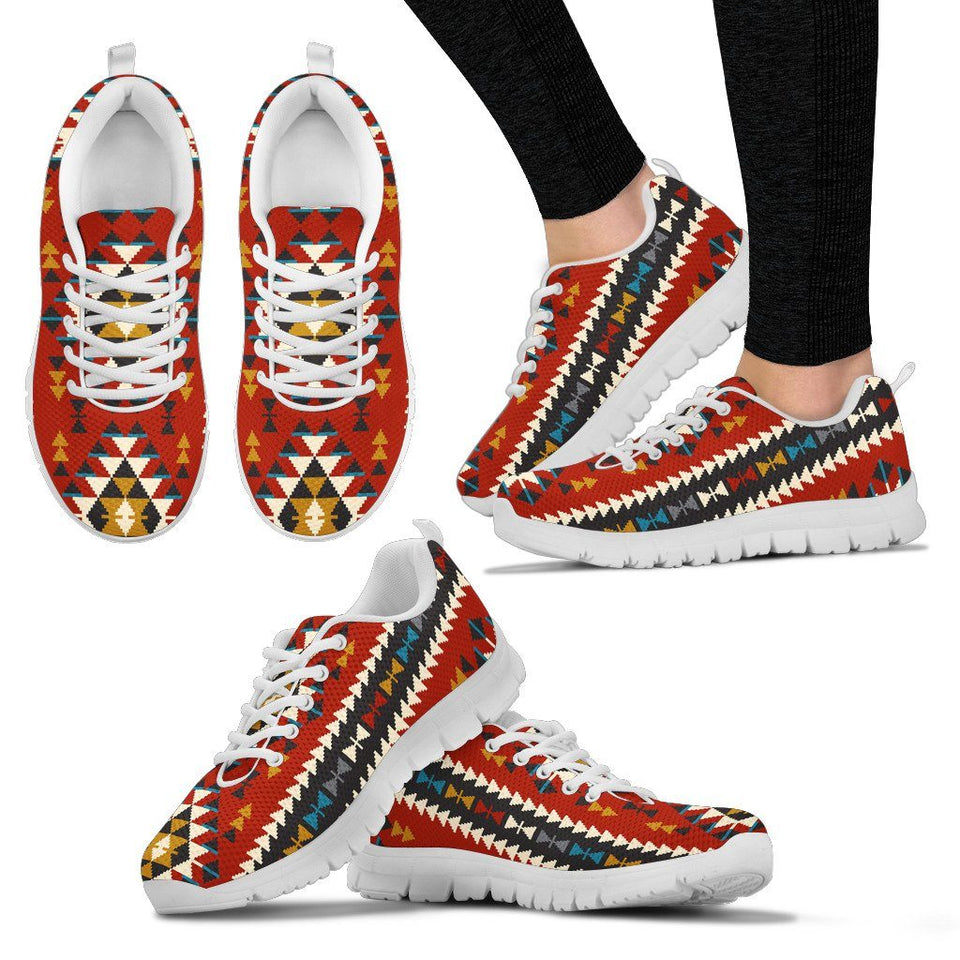 Native American Indian Pattern Women's Running Shoes NT028 - Women's Sneakers - White - Native 2 / US5 (EU35) - Ineffable Shop