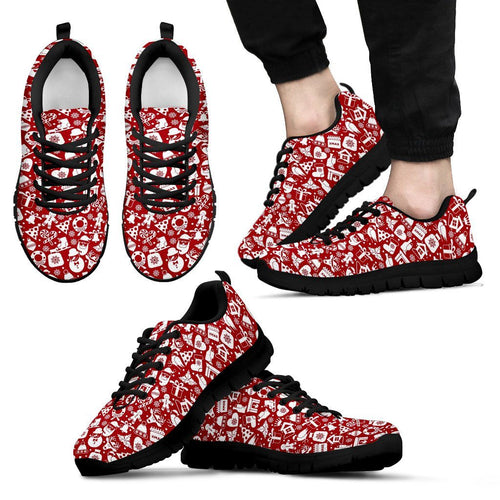 Happy Christmas Men's Costume Shoes - Men's Sneakers - Black - Christmas 1 / US5 (EU38) - Ineffable Shop