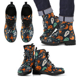 Halloween Leather Boots Design HLW005 - Men's Leather Boots - Black - Halloween 2 / US5 (EU38) - Ineffable Shop