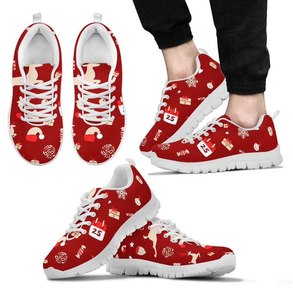 Happy Christmas Men's Sneakers - Men's Sneakers - White - Christmas 2 / US5 (EU38) - Ineffable Shop