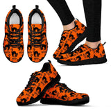 Halloween Black Cat Women's Running Shoes HLW020 - Women's Sneakers - Black - Halloween 1 / US5 (EU35) - Ineffable Shop