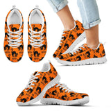 Halloween Black Cat Kid's Running Shoes HLW022 - Kid's Sneakers - White - Halloween 2 / 11 CHILD (EU28) - Ineffable Shop