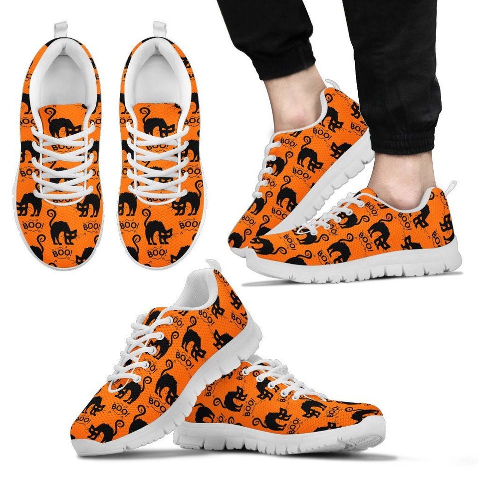 Halloween Black Cat Men's Running Shoes HLW021 - Men's Sneakers - White - Halloween 2 / US5 (EU38) - Ineffable Shop