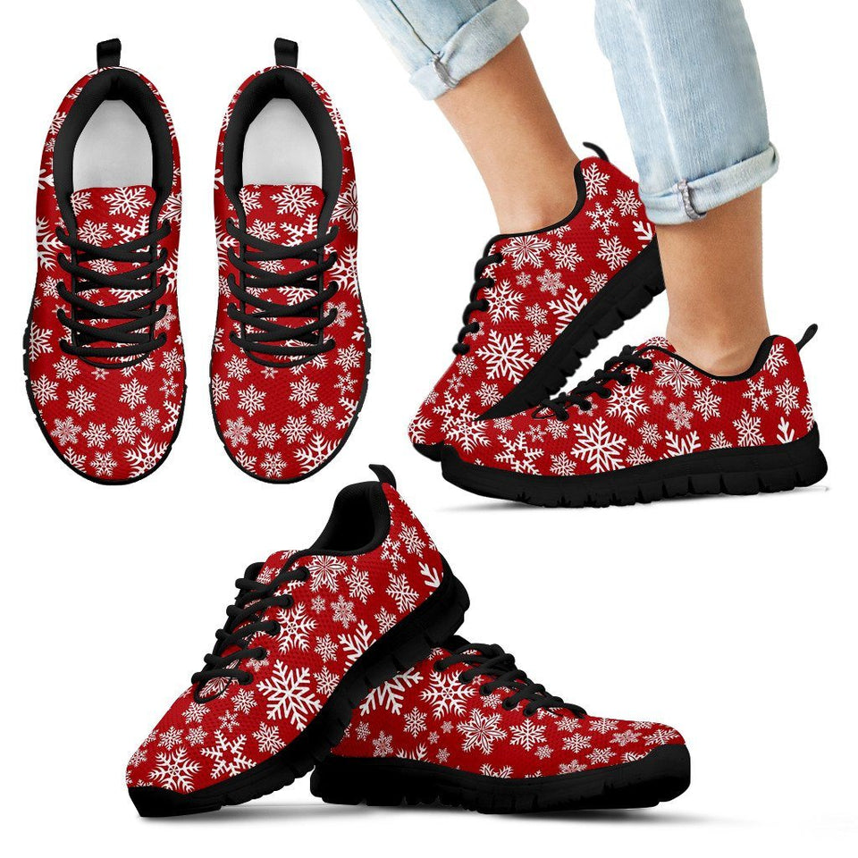 Christmas Red Snow Kid's Running Shoes - Kid's Sneakers - Black - Christmas 1 / 11 CHILD (EU28) - Ineffable Shop