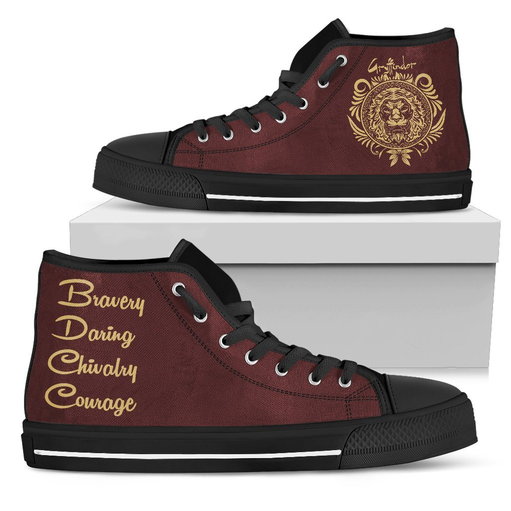 Harry Potter 4 House Men's High Top Canvas Shoe HP0051