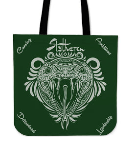 Harry Potter 4 House Tote Bag HP0057 - Slytherin - Ineffable Shop