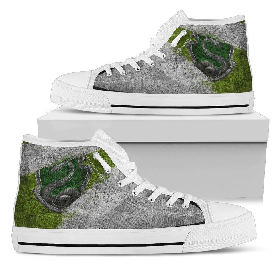 Harry Potter 4 House Women's High Top HP0122 - Slytherin - White / US5.5 (EU36) - Ineffable Shop