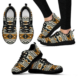 New Native American Pattern Women's Shoes NT093 - Women's Sneakers - Black - Native American 1 / US5 (EU35) - Ineffable Shop