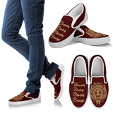 Harry Potter 4 House Men's Slip Ons HP0055 - Gryffindor - White / US8 (EU40) - Ineffable Shop