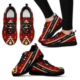 Native American Indian Pattern Women's Running Shoes NT028 - Women's Sneakers - Black - Native 1 / US5 (EU35) - Ineffable Shop
