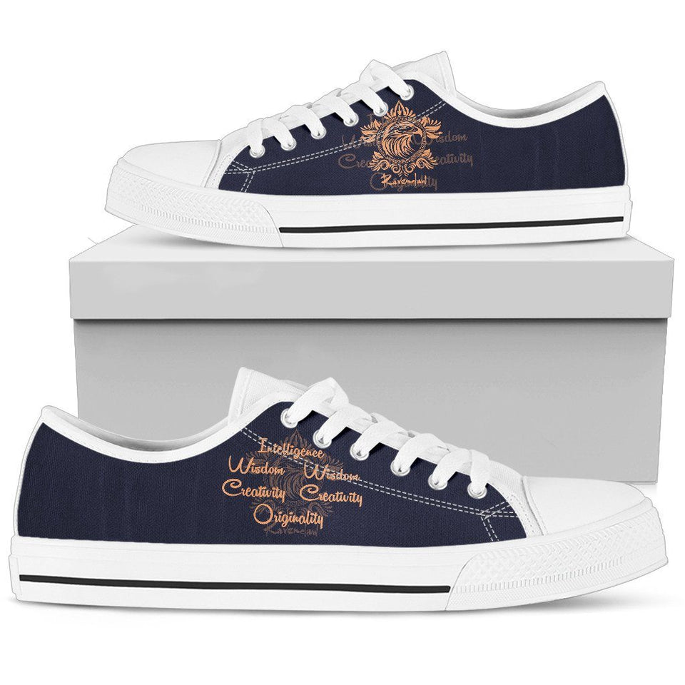 Harry Potter 4 House Men's Low Top Canvas Shoe HP0053 - Ravenclaw - White / US5 (EU38) - Ineffable Shop