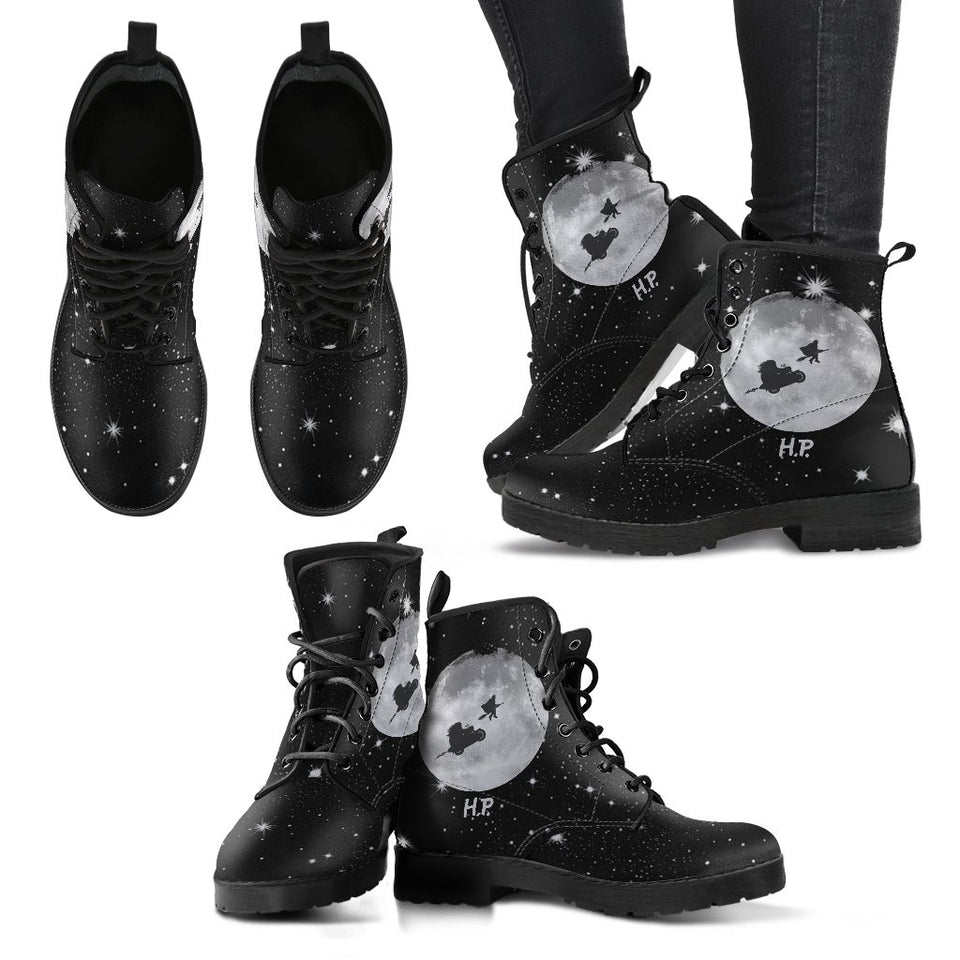 Harry Potter Leather Boots Design Costume HP0136 - Women's Leather Boots - Black - Harry Potter 1 / US5 (EU35) - Ineffable Shop