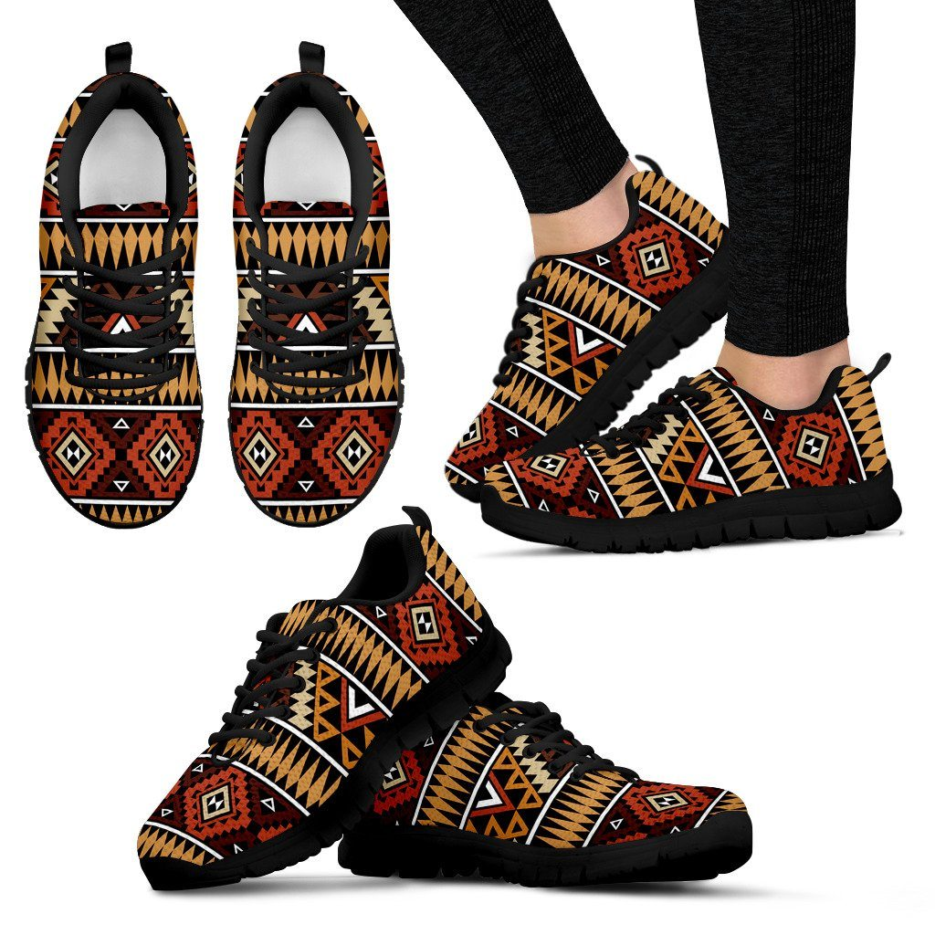 New Native American Women's Costume Shoes NT055 - Women's Sneakers - Black - Native 1 / US5 (EU35) - Ineffable Shop