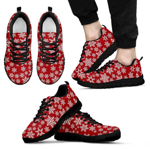 Christmas Red Snow Men's Running Shoes - Men's Sneakers - Black - Christmas 1 / US5 (EU38) - Ineffable Shop