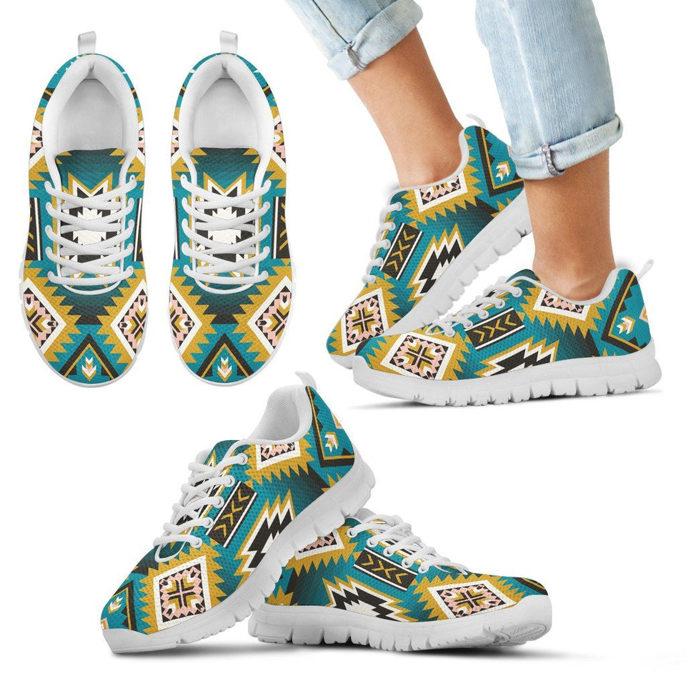 New Naive American Pattern Kid's Sneakers NT045 - Kid's Sneakers - White - Native 2 / 11 CHILD (EU28) - Ineffable Shop