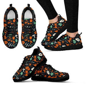 Happy Halloween Women's Running Shoes HLW017 - Women's Sneakers - Black - Halloween 1 / US5 (EU35) - Ineffable Shop