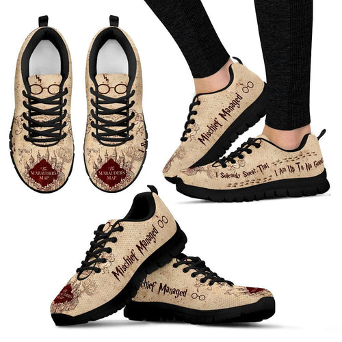 Harry Potter Marauder Women's Running Shoes HP0034 - Women's Sneakers - Black - 1 / US5 (EU35) - Ineffable Shop