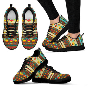Native American Indian Pattern Women's Shoes NT084 - Women's Sneakers - Black - Native American 1 / US5 (EU35) - Ineffable Shop