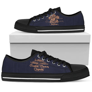 Harry Potter 4 House Men's Low Top Canvas Shoe HP0053 - Ravenclaw - Black / US5 (EU38) - Ineffable Shop