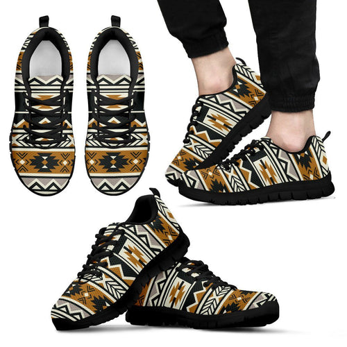 New Native American Pattern Men's Shoes NT094 - Men's Sneakers - Black - Native American 1 / US5 (EU38) - Ineffable Shop
