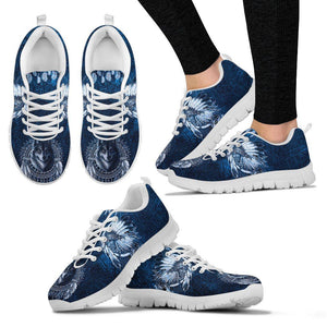 Native American Wolf Women's Running Shoes NT098 - Women's Sneakers - White - Native American 2 / US5 (EU35) - Ineffable Shop